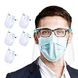 Set de 5 uds. Visera-pantalla facial, protección facial integral...