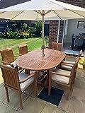 Kingsley Smythe - Juego de 6 plazas para jardín con sillas...