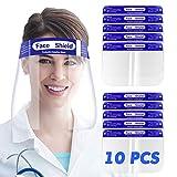SGODDE 10 Pcs Pantalla Protección Facial Transparente, Protector...