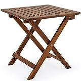 Deuba Mesa auxiliar de jardín madera de acacia mesita de café...