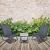 Outsunny Conjunto de Muebles de Jardín 3 Piezas Juego de 2...